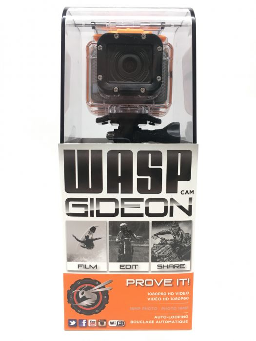 Caméra d'action Style GoPro 1080P 60FPS Wi-Fi Wasp Gideon