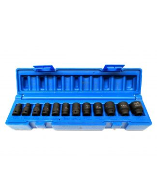 Grey Pneumatic 12PC. Ensemble de Drive Impact 1/4'' 9712MG