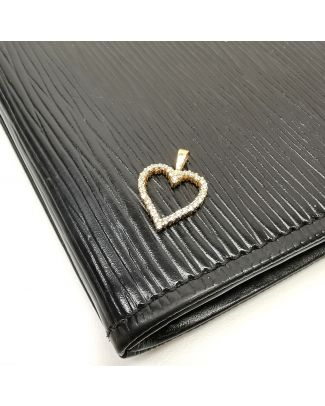 Pendentif en Or 10kt ''Coeur'' avec pierres
